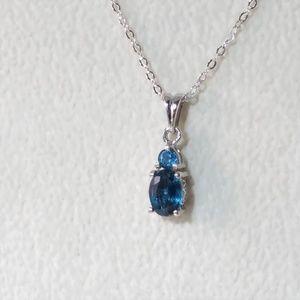 Jewelry - Beautiful Blue Kyanite Gemstone Pendant and Chain